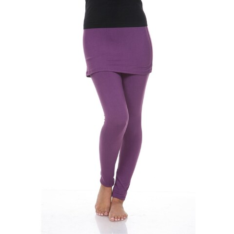 Skirted Leggings - Purple