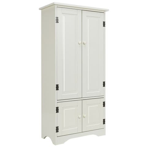 "Accent Storage Cabinet Adjustable Shelves - White - 24"" x 13"" x 49"" (L x W x H)"