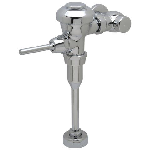 "Zurn Z6003PL-EWS Aquaflush Plus 0.5 GPF Manual Urinal Flushometer for 3/4"" Top Spud with Sweat Solder Kit, Stop Cap and Cast"