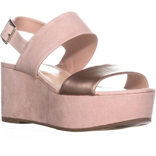 B35 Dalenna Buckle Platform Sandals, Pink Blush - 9 us