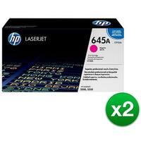 HP 645A Magenta LaserJet Toner Cartridge (C9733A)(2-Pack)