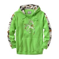 Legendary Whitetails Mens Big Game Snow Camo Outfitter Hoodie