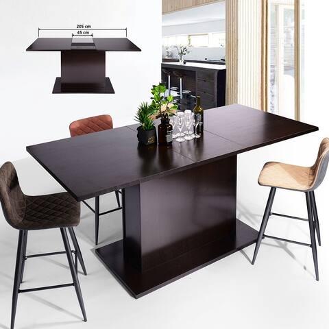 Carbon Loft Bojorquez Espresso Extendable Wood Bar Table
