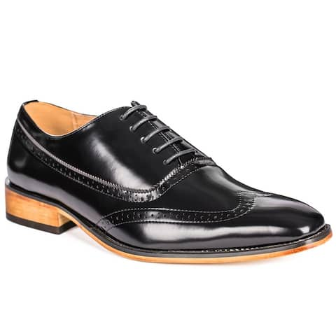 Gino Vitale Men's Wing Tip Dress Shoes