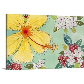Jennifer Peck Solid-Faced Canvas Print entitled Tropical Flower