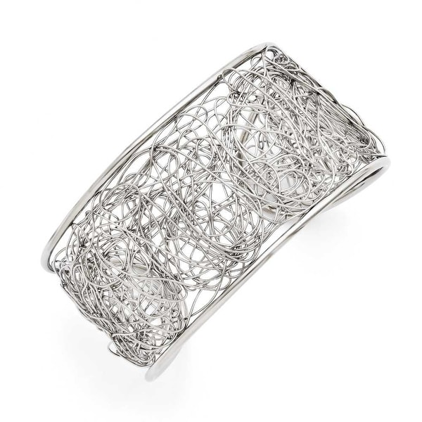 Chisel Stainless Steel Wire Cuff Bangle