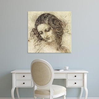 Easy Art Prints Leonardo da Vinci's 'Study for the Head of Leda' Premium Canvas Art