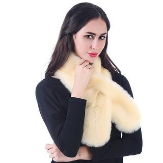 Mad Style Cream Threading Faux Fur Boa