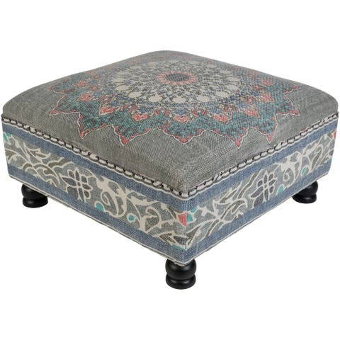 Dilsad Gray Boho Cotton Bench