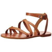 Lucky Brand Womens Aubree Leather Open Toe Casual Strappy Sandals