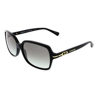 Coach HC8116 500211 Black Rectangular Sunglasses