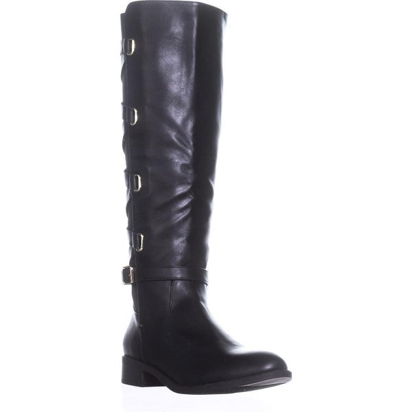 TS35 Veronika Tall Casual Riding Boots, Black