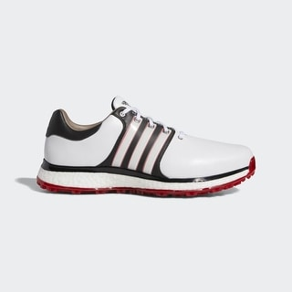 New Adidas Tour 360 XT Spikeless White/Black/Scarlet Golf Shoes F34992 (WIDE)