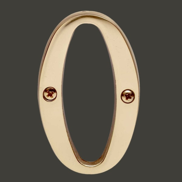 Letter O House Letters Solid Bright Brass 3 | Renovator's Supply
