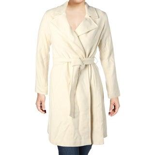Lauren Ralph Lauren Womens Trench Coat Fall Wool Blend