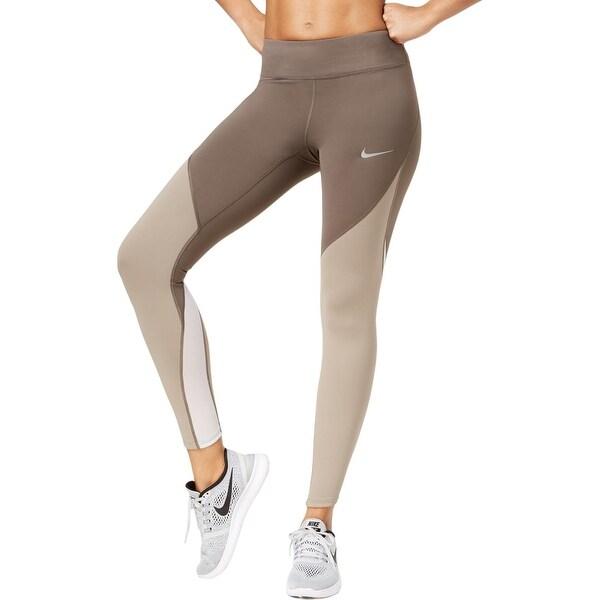 e68a150beb1fd Shop Nike Womens Athletic Leggings Tight Fit Colorblocked - Free ...