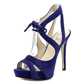 Guess Hedday Women Open Toe Leather Platform Heel