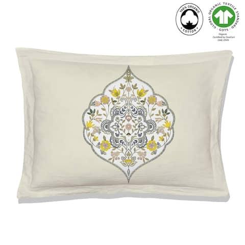 Gracia Reversible Print 100% Organic Cotton Pillowsham Pack of 2