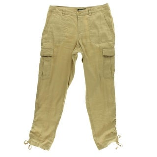 Lauren Ralph Lauren Womens Linen Ruched Cargo Pants - 2