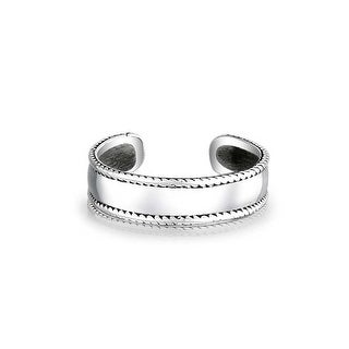 Bling Jewelry Sterling Silver Midi Ring Braided Bali Style Rope Toe Rings