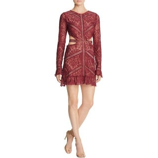 For Love & Lemons Womens Emerie Dress Open Back Lace