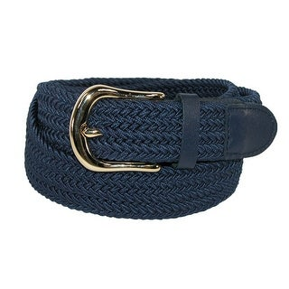 CTM® Men's Elastic Stretch Belt with Gold Buckle and Matching Tabs