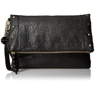 Rosetti NEW Black Justine Foldover Stud Trim Wristlet Clutch Handbag