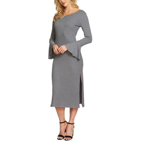 1.State Womens Ribbed Midi Dress