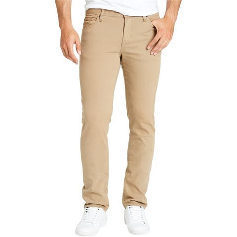 William Rast Mens Coated Slim Fit Jeans