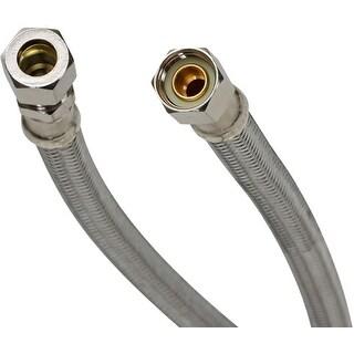 "Fluidmaster PRO8F12  12"" Faucet Connection Hose, 3/8"" Female Compression x 3/8"" Male Compression"