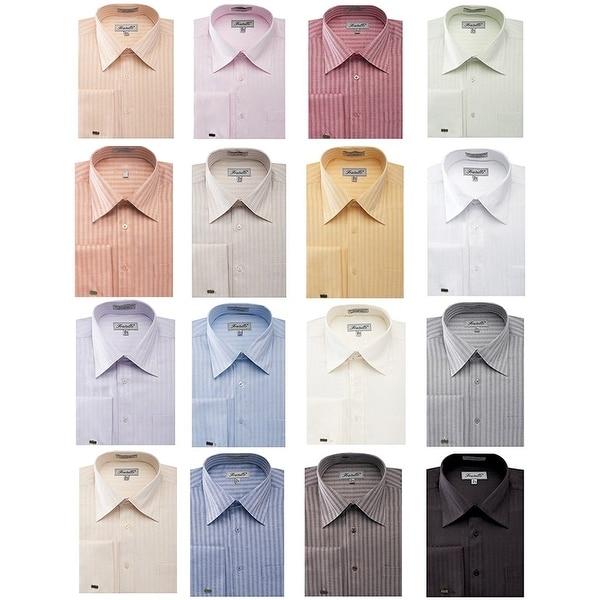 Men's Herringbone French Cuff Shirt 1. Opens flyout.