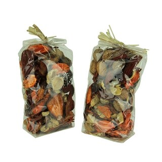 Double Bag Lot of Spice Orange and Brown Dried Botanical Decorative Filler - 9 X 5 X 3 inches