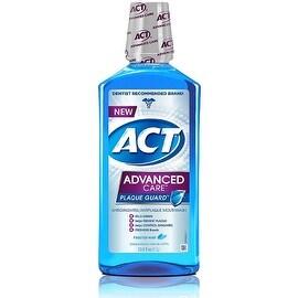 ACT Advanced Care Plaque Guard Mouthwash, Frosted Mint 33.80 oz