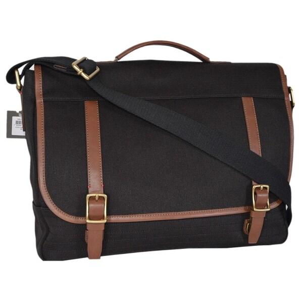Shop Fossil Men S Black Canvas Evan Messenger Bag