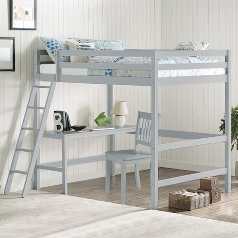 Taylor & Olive Tansy Full-size Loft Bed with Chair