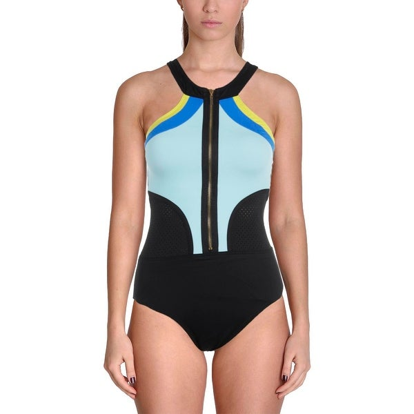 3fbbb98f7ec Shop La Blanca Womens Colorblock High Neck One-Piece Swimsuit - Free  Shipping On Orders Over $45 - Overstock - 20683927