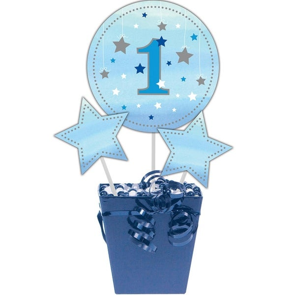 """Club Pack of 18 Blue and Gold One Little Star Centerpiece Sticks 17.1"""""""