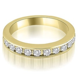 1.44 cttw. 14K Yellow Gold Classic Channel Set Round Cut Diamond Wedding Ring