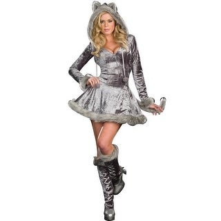 Dreamgirl Big Bad Sexy Wolf Adult Costume - Grey - Small