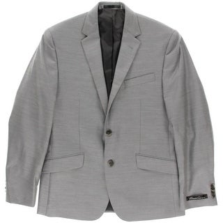 Kenneth Cole New York Mens Notch Collar Slim Fit Two-Button Suit Jacket