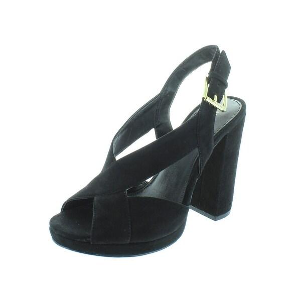 720e9f70243 Shop MICHAEL Michael Kors Womens Becky Platform Sandals Suede Block ...