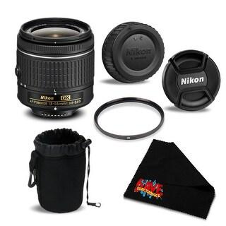Nikon AF-P DX NIKKOR 18-55mm f/3.5-5.6G Lens 20060 Essential Bundle- International Version (No Warranty)