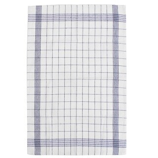 Home Kitchen Cotton Plaid Tea Towel Cloth Tablecloth Craft Placemat Navy Blue