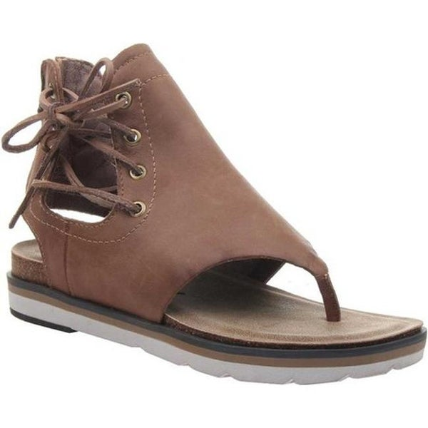 80d644dab3d1d5 Shop OTBT Women s Locate Thong Sandal New Brown Genuine Leather - On ...