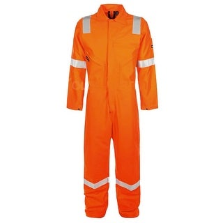 Walls Fr-Industries Mens Orange Reflector Coveralls For Work Wear Size 54