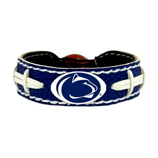 Penn State Nittany Lions Team Color NCAA Gamewear Leather Football Bracelet