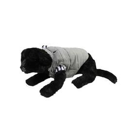 Slate Gray and Zebra Print Reversible Fashion Fleece Dog Jacket - Extra Large