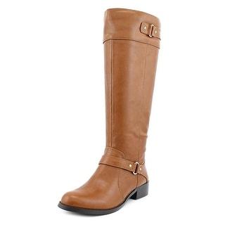 Alfani Jessa Wide Calf Round Toe Synthetic Knee High Boot
