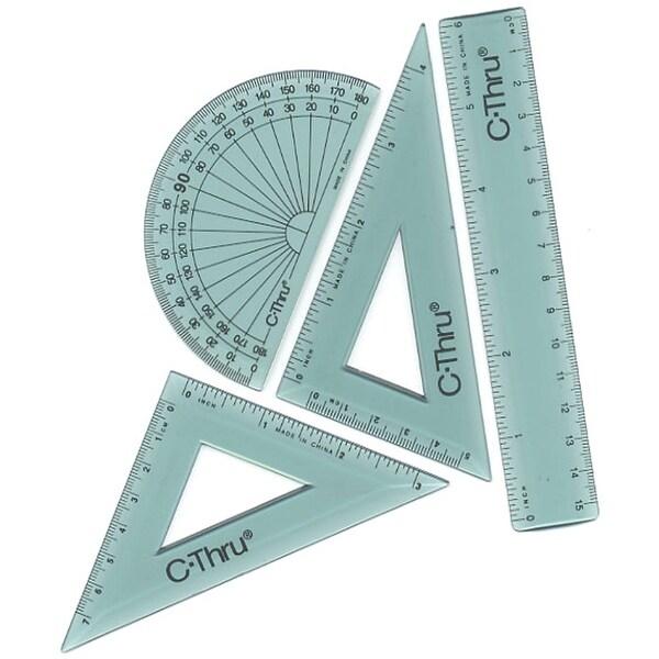 """Ruler Combo Set 6"""" 4/Pkg-"""