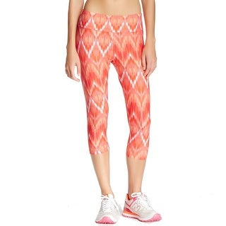 The Balance Collection NEW Orange Womens Size Large L Capris Leggings